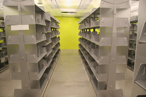 Empty Bookshelves - Seattle Central Libr by brewbooks, on Flickr