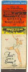Fast Like a Bunny!! (Marxchivist) Tags: philadelphia girl cheesecake pinup matchbook georgepetty pennysylvania pettygirl matchcover