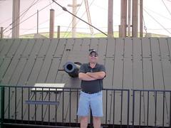 U.S.S. Cairo Memorial, Vicksburg, Mississippi (Richard and Cindy Krause) Tags: history monument canon mississippi cairo civilwar gunship