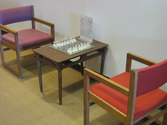 Chess Set on the Fourth Floor (highlinelibrary) Tags: library chess biblioteca highline hcc chessset fourthfloor highlinelibrary maktabad hcclibrary