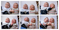 being funny ( - s  ) Tags: baby cute kids children twins funny babies faces kinderen babys karel grappig madelief tweeling schattig gezichtjes