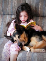 Reading (m00nbugg) Tags: dog cute children reading sweet space read glop abigfave tc86kidsbestfriends