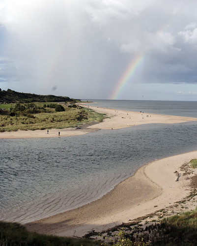 Double rainbow over Alnmouth