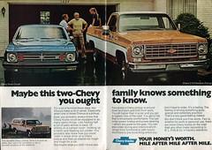 1975 Chevrolet C10 Fleetside Pickup Truck Nova Advertisement Readers Digest November 1975 (SenseiAlan) Tags: 1975 chevrolet c10 fleetside pickup truck nova advertisement readers digest november