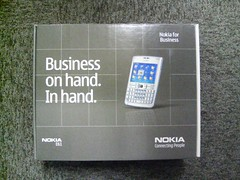Business on hand in hand nokia E61