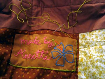 Embroidering the border