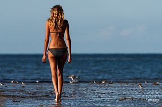 And She Strolled Along The Beach