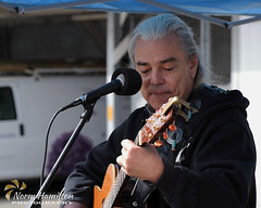 Harold Anderson, AKA Homeless Harold, performs at the Duncan Farmers Market. #farmersmarket #singersongwriter #streetperformer (Norm-Hamilton) Tags: streetperformer singersongwriter farmersmarket