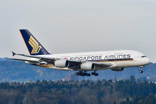 A388 Singapore Airlines - 9V-SKG - ZRH