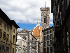 Duomo, Campanile and Baptistery (Feldore) Tags: florence duomo campanile baptistery church italy italian medieval feldore mchugh em1 olympus 1240mm dome domed ornate decorated