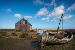 THORNHAM (andrew watts photography) Tags: thornham norfolk coast nikon d800 landscape boat house sky clouds blue