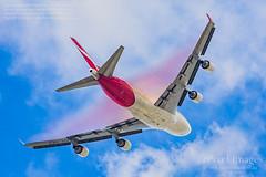 VH-OEE Qantas 747-438 ER 'Nullabor' Condensation Rainbow. (ePixel Images) Tags: vhoee qantas 747438er nullabor brisbane bnelax condensation rainbow cloud