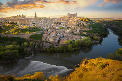 Toledo (anekphoto) Tags: toledo spain town city old historic europe landmark landscape view cityscape architecture spanish tourism ancient river medieval building cathedral traditional history european famous alcazar hill travel culture castle sky panorama heritage panoramic mancha sunset blue tower destination castile skyline historical unesco la castilla tajo beautiful outdoor scene stone roof architectural