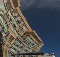 Reflected and Distorted (TheMachineStops) Tags: 2017 nyc manhattan newyorkcity reflection distortion carwindow building sky 14thstreet westvillage windshieldwiper reflected bluesky azulcielo architecture