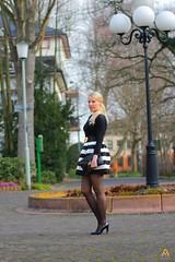 IMG_5766 (AndyMc87) Tags: blonde heels fahsion skirt stripes winter tree boke circle lantern black white sexy legs canon eos hessen weilbach 550d tamron 70200