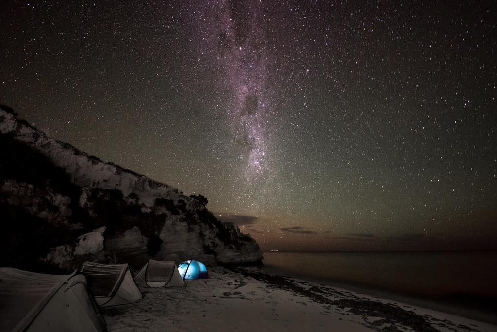 Beach Camping under the stars