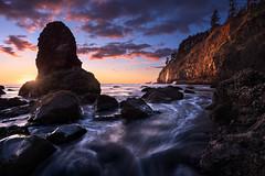 Distant Falls (jordannek) Tags: jordan ek photography oregon pnw coast waterfall beach sun star light sunset