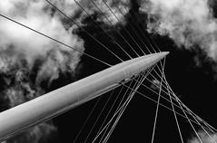 network (Karl-Heinz Bitter) Tags: england ereignisse europa event greatbritain grosbritannien architektur architecture monochrom monochrome calatrava network bridge trinity karlheinzbitter manchester