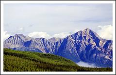 Pyramid Mountain in Jasper National Park - 2001 (sjb4photos) Tags: canada alberta jaspernationalpark canadianrockies pyramidmountain epsonv500