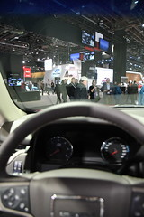 2018 North American International Auto Show from behind the wheel of a Yukon Denali (Corvair Owner) Tags: north american international auto show detroit michigan mi mich new car display automobile truck suv crossover manufacturer january 2018 cobo arena hall center winter gmc yukon denali