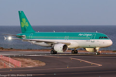 EI-DVL - 2011 build Airbus A320-214, about to vacate Runway 21 on arrival at Arrecife just after sunset (egcc) Tags: 4678 a320 a320214 ace aerlingus airbus arrecife canaries ei eidvl ein gcrr lanzarote lightroom molling