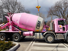 Think Pink (jeffcbowen) Tags: breastcancer cancer message truck pink