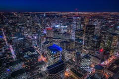 Toronto (karinavera) Tags: city longexposure night photography cityscape urban ilcea7m2 aerial cntower toronto view