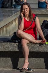 red dress (waltherek99) Tags: kraków cracow polska poland rynek kobieta street