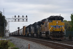 NS 118 4/8/18 (tjtrainz) Tags: ns norfolk southern 118 manifest train doraville ga georgia division greenville district up union pacific sd70ah emd electro motive ge general electric gevo es44ac c449w 944cw sd402