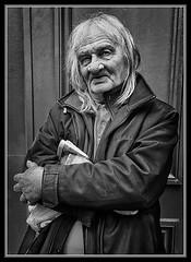 """Waiting for the Miracle Man"" (flavius200) Tags: david harford flavius200 england uk dorking photocraft portrait camera club mono monochrome black white london surrey living streets homeless man victoria"