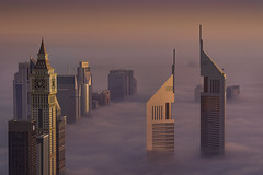 Glorious morning (Dany Eid) Tags: dubai uae emirates city cityscape fog nature sunrise golden hour travel dxb jumeirah towers otus1485
