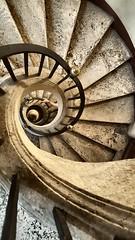 Spiral staircase -  Basilica di Santa Maria Maggiore (The Happy Snapping Dog Walker) Tags: basilicadisantamariamaggiore roma rome italy church basilica historical history architecture spiral stairs staircase