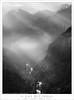 Clearing Clouds, Merced River Canyon (G Dan Mitchell) Tags: merced river canyon yosemite valley national park bridalveil water fall clouds clearing morning sun beams spring sierra nevada landscape nature california usa north america blackandwhite monochrome