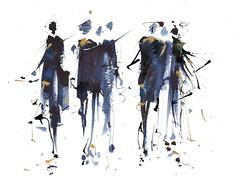 Foule graphique (Nellytella) Tags: watercolor illustration ink aquarelle encre foule graphique personnages personnage fashion croquis sketch