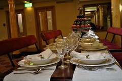 Lunch in Great Britain (Canis Major) Tags: ssgreatbritain brunel bristol table dishes dinner cutlery longest