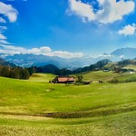 Panorama near Oberaudorf, Bavaria, Germany thumbnail