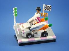 Lightning Rabbit (LEGO 7) Tags: lightning rabbit gokart lego moc friends