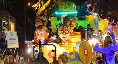 Gold Records (BKHagar *Kim*) Tags: bkhagar mardigras neworleans nola la parade celebration people crowd beads outdoor street napoleon uptown bacchus kreweofbacchus beatles icons musicians rock rockandroll
