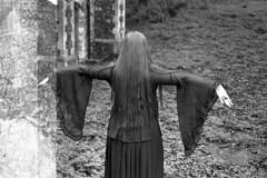 film (La fille renne) Tags: film analog 35mm lafillerenne spookyvalentine portrait witch monochrome blackandwhite ilford canonae1program 50mmf18 mx doubleexposure multipleexposure ilfordfp4plus125