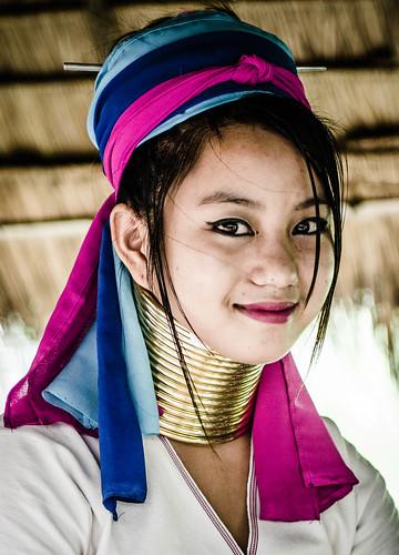 Young Karen, Chiang Mai, Thailand.