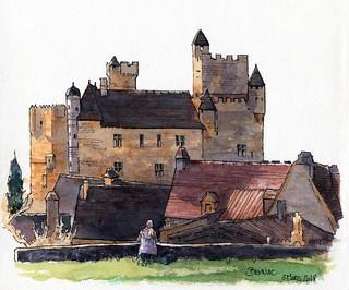 Beynac, vue du château