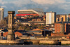 View of Liverpool FC Anfield Stadium from across the other side of the River Mersey (Dave Wood Liverpool Images) Tags: liverpooolfc anfield lfc stadium football architecture