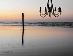 Setting for a romantic evening (ARTUS8) Tags: nikon18105mmf3556 flickr digitallycomposed nikond90 meer strand sonnenuntergang sand ozean himmel kronleuchter sunset beach sea norderney