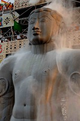 DSC_3013 (rajashekarhk) Tags: riceflourbath riceflour mahamastakabhisheka southindia shravanabelogola gomateshwara god jainism jain jainfestival jaingurus karnataka rajashekar nikon architecture jainpiligrimage