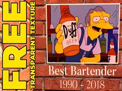 FREE texture - Moe (cuuka) Tags: cuuka red sun redsun moe simpson sl paint texture kushino free gift bar bartender drink 1990 2018 transparent