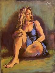 Figure painting, Pastel on UArt. (sharivahidi) Tags: lightshadow color people pastels figurepainting