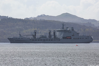RFA Tidespring, A136, IMO 9655535; Firth of Clyde, Scotland