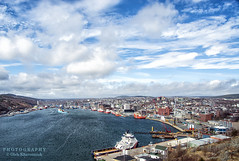 Welcome to St.John's (Oleh Khavroniuk (Khavronyuk)) Tags: nikon nikkor stjohns newfoundland newfoundandlabrador nfld canada explorecanada atlantic atlanticcanada nl harbour ship sea ocean sky clouds blue water windy city cityscape buildings streetphotography streetphoto outdoor photography photo photoart d7100 landscape la landschaft new geotagged digital day light travel vacation spring coast bay cielo ciel hiking printemps port