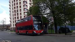 End of the line. (Unorm001) Tags: e6 e 6 196 sn06bnj sn06 bnj red london double deck decks decker deckers buses bus routes route adl alexander dennis limited enviro400 e40d diesel e400 enviro 400