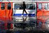 Walking on water - South Kensington Station (Luke Agbaimoni (last rounds)) Tags: london londonunderground londontube southkensington streetphotography street reflection reflections